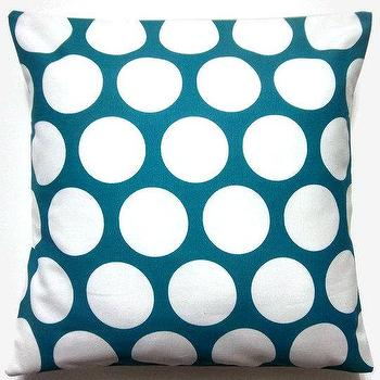 Two Turquoise White Pillow Covers Handmade by LynnesThisandThat