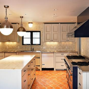 Herringbone Backsplash, Transitional, kitchen, More Design Build
