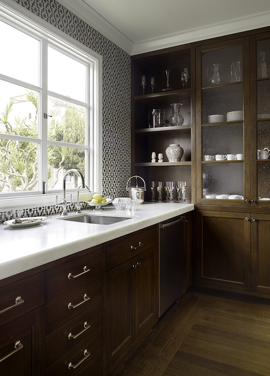 Chocolate Brown Cabinets Contemporary Kitchen Artistic Designs