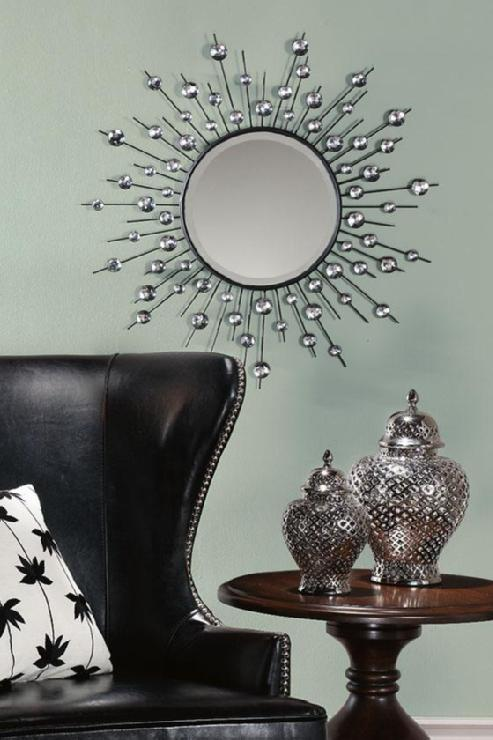 Diamond mirror wall mirrors wall decor home decor for Mirror wall art
