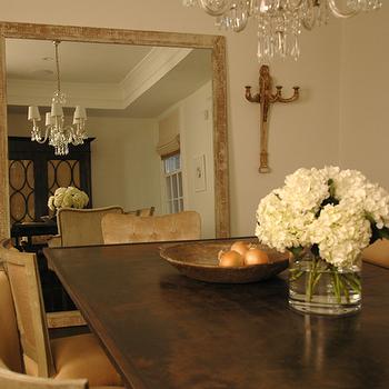 Dining Room Mirror, Mediterranean, dining room, Paul Corrie Interiors