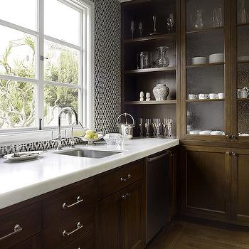 Blue and brown kitchen design ideas for Chocolate brown kitchen designs