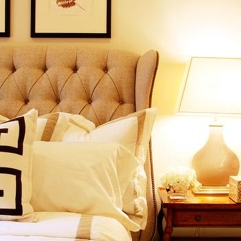 Tufted Wingback Headboard, Transitional, bedroom, Marie Flanigan Interiors
