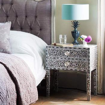 Grey Maxi Mother Of Pearl Side Table