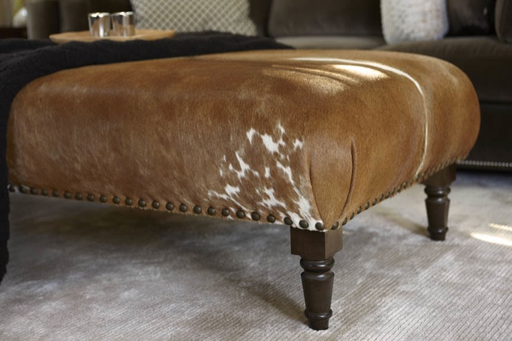 Cowhide Ottoman Design Ideas