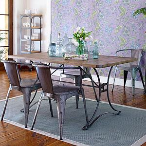 Jackson Rectangular Table with Metal Base Dining Room Furniture