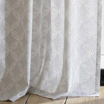 Cotton Canvas Faux Bead Window Panel, west elm
