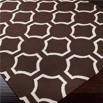 Connect the Dots Dhurrie Rug: 3 Colors, Shades of Light
