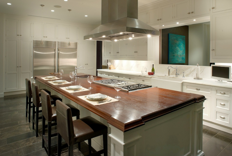 exceptional Kitchen Island With Range Design #6: Belmont Design Group · Hood over Kitchen Island view full size