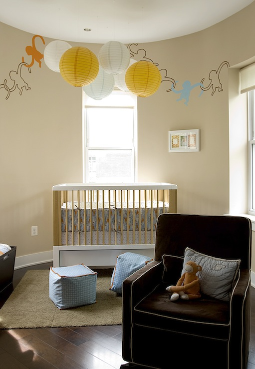 Nursery with tan wall color transitional nursery - Paper lantern paint color ...