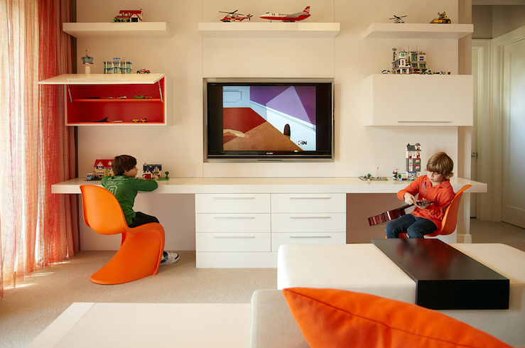 Kids Shared Desk Contemporary Boy S Room B And G Design