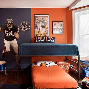 Football Themeed Boy's Room, Contemporary, boy's room, Alan Design Studio