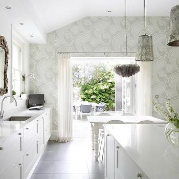 Mercury Glass Chandelier, Eclectic, kitchen, 1st Option