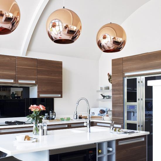 Modern European Kitchen Designs: Tom Dixon Copper Shade Pendant Design Ideas