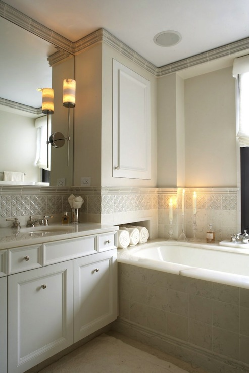 Ivory Bathroom Cabinets Contemporary Bathroom B