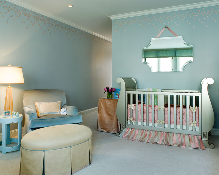 Pink Nursery Ceiling Design Decor Photos Pictures