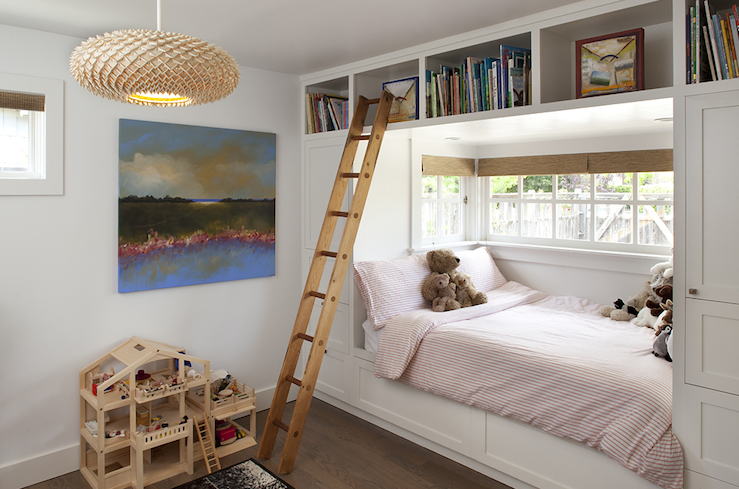 Bookcase Over Bed  Contemporary