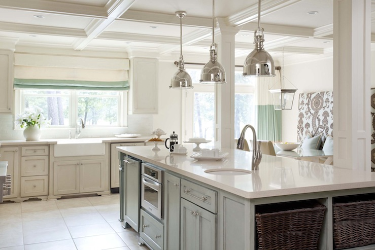 Faux finish kitchen island transitional kitchen for Kitchen colors with white cabinets with mermaid outdoor wall art