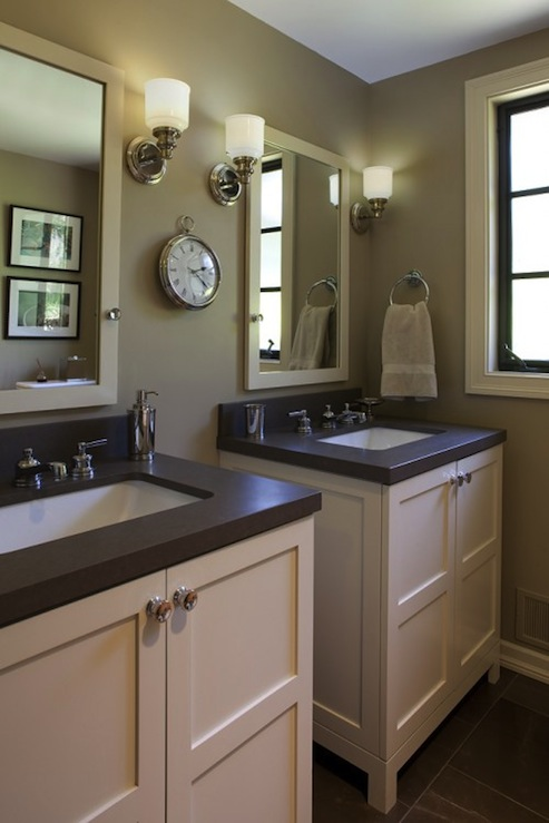 Taupe Bathroom Contemporary Bathroom Artistic