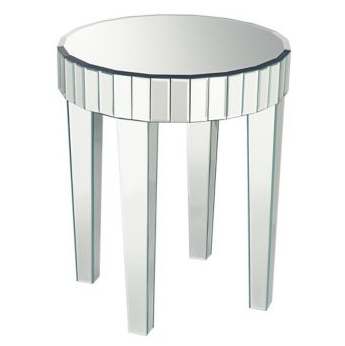 Attractive Lamps Plus Mirrored Round End Table View Full Size