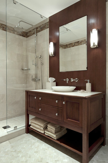 Brown Bathroom Vanity Contemporary Bathroom Carole Freehauf