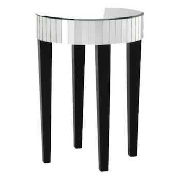 Mirrored Round End Table Look 4 Less