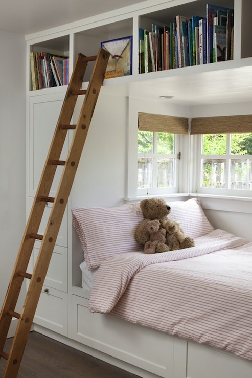 Built in bed contemporary girl 39 s room artistic for Window design girl