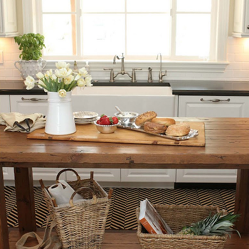 Salvaged Wood Island, Transitional, kitchen, The Willows Home & Garden