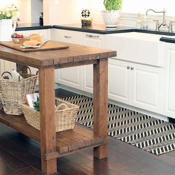 Chevron Kitchen Runner, Transitional, kitchen, The Willows Home & Garden