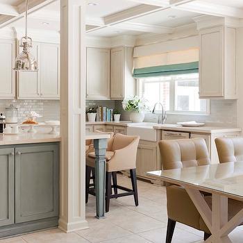 Two Tone kitchen, Transitional, kitchen, Sherwin Williams Wool Skein, Tobi Fairley