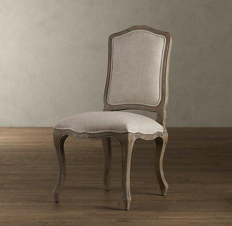 Charmant Vintage French Camelback Upholstered Side Chair   Dining Chairs    Restoration Hardware