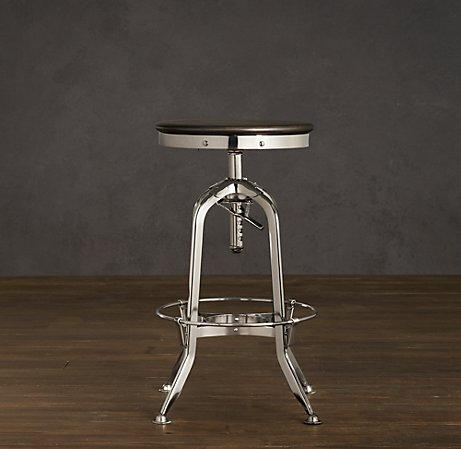 Vintage Toledo Barstool Polished Chrome Bar Counter Stools Restoration Hardware