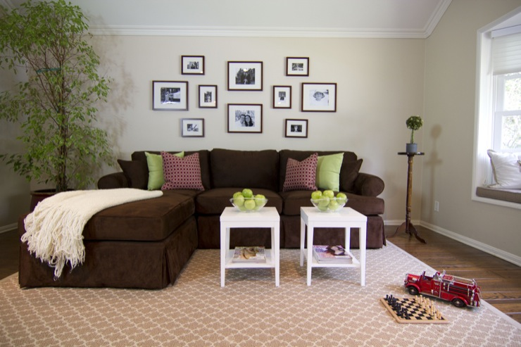 Living Room Design Ideas Brown Sofa brown sectional with chaise lounge design ideas