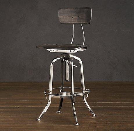 restoration hardware bar stools Vintage Toledo Chair Polished Chrome   Bar & Counter Stools  restoration hardware bar stools