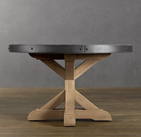 concrete round dining table round dining tables restoration hardware