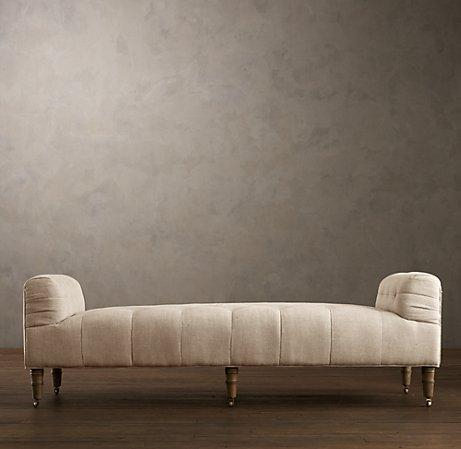camille tufted settee ottomans benches restoration
