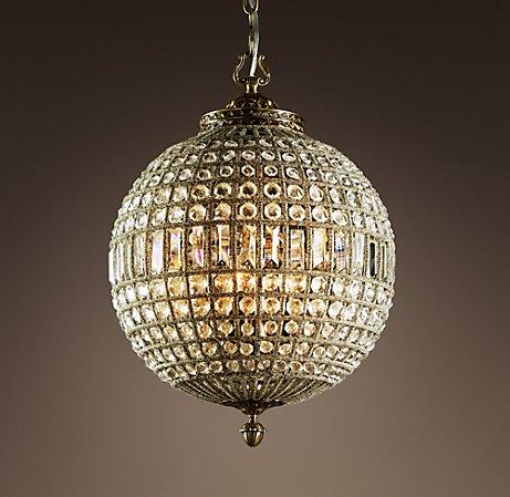 19th C Casbah Crystal Chandelier Medium Chandeliers
