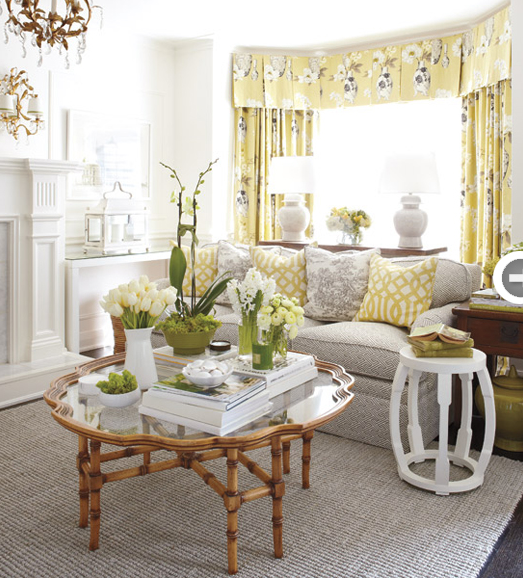 Gray And Yellow Curtains Contemporary Living Room Style At Home