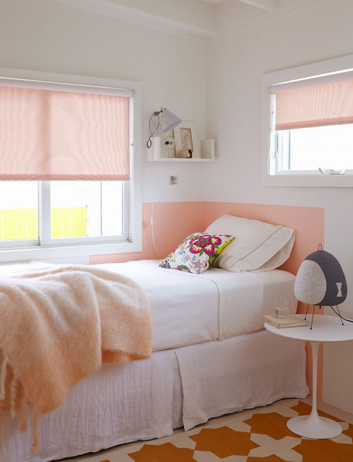 Ivory And Pink Girls Bedroom Design Ideas