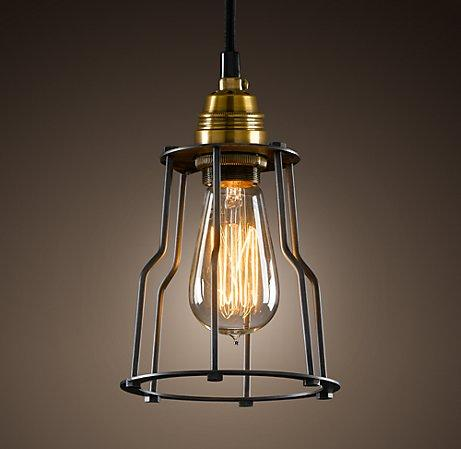 Charming Cage Filament Pendant | Ceiling | Restoration Hardware