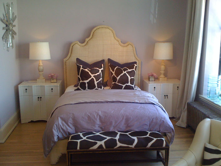 burlap headboard with nailhead trim design ideas, Headboard designs