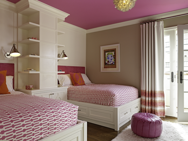View Full Size Adorable Gray Pink Girls Bedroom