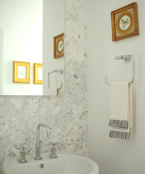Herringbone Pattern Backsplash Design Ideas