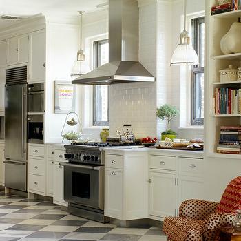Checkered Kitchen Floor, Transitional, kitchen, Carter & Company Interior Design