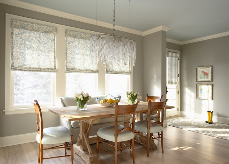 Grey Walls Transitional Dining Room Benjamin Moore