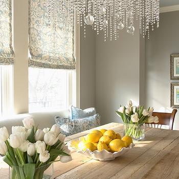 Gray Walls, Contemporary, dining room, Benjamin Moore Northern Cliffs, Martha O'Hara Interiors