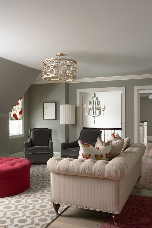 View Full Size Chic Living Room Design With Gray Walls Paint Color Light Gray