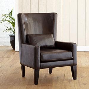 Beau Espresso Triton High Back Bi Cast Leather Chair   Living Room Furniture|  Furniture   World Market