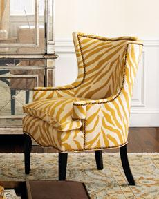 Yellow Upholstered Chair. Horchow.com