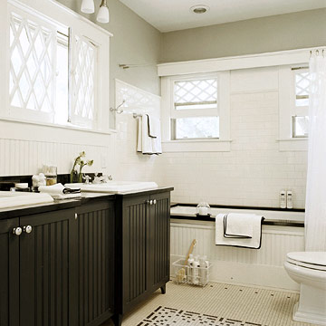 Beadboard cabinets design ideas - Small cottage style bathroom vanity design ...